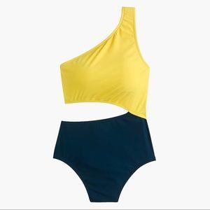 Colorblock cut-out swimsuit